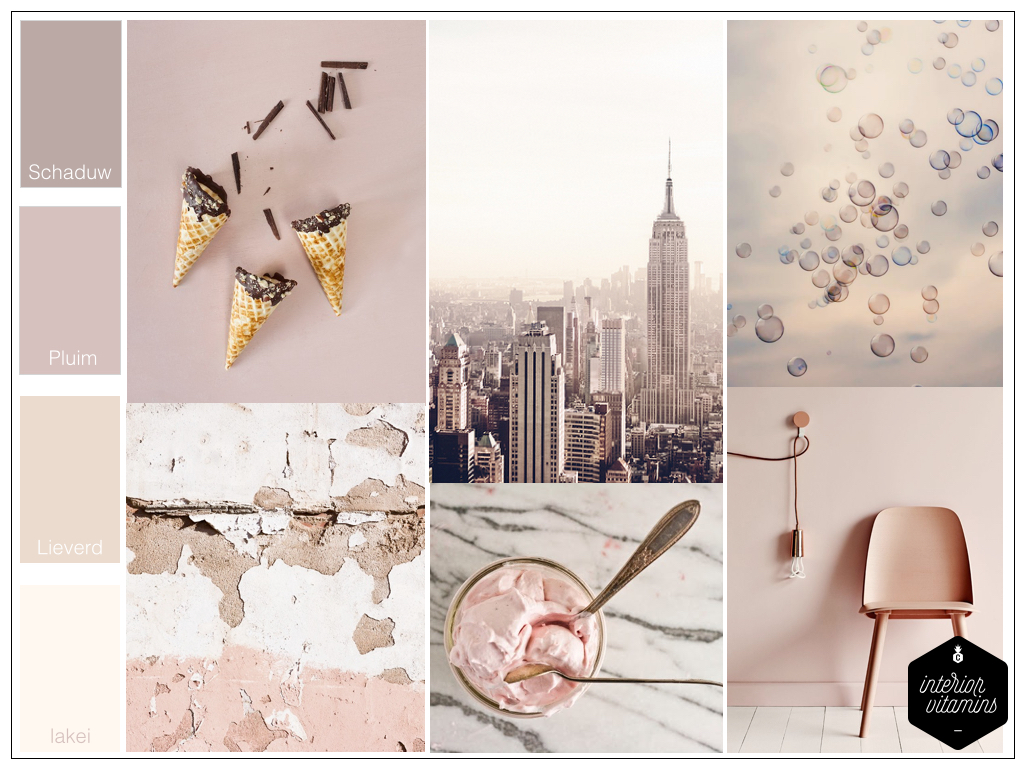 Dusty pink •   interior vitamins
